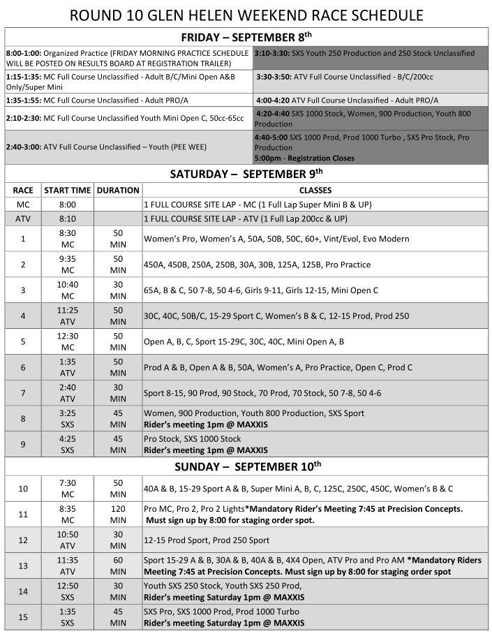 2017-Round-10-Weekend-Race-Schedule