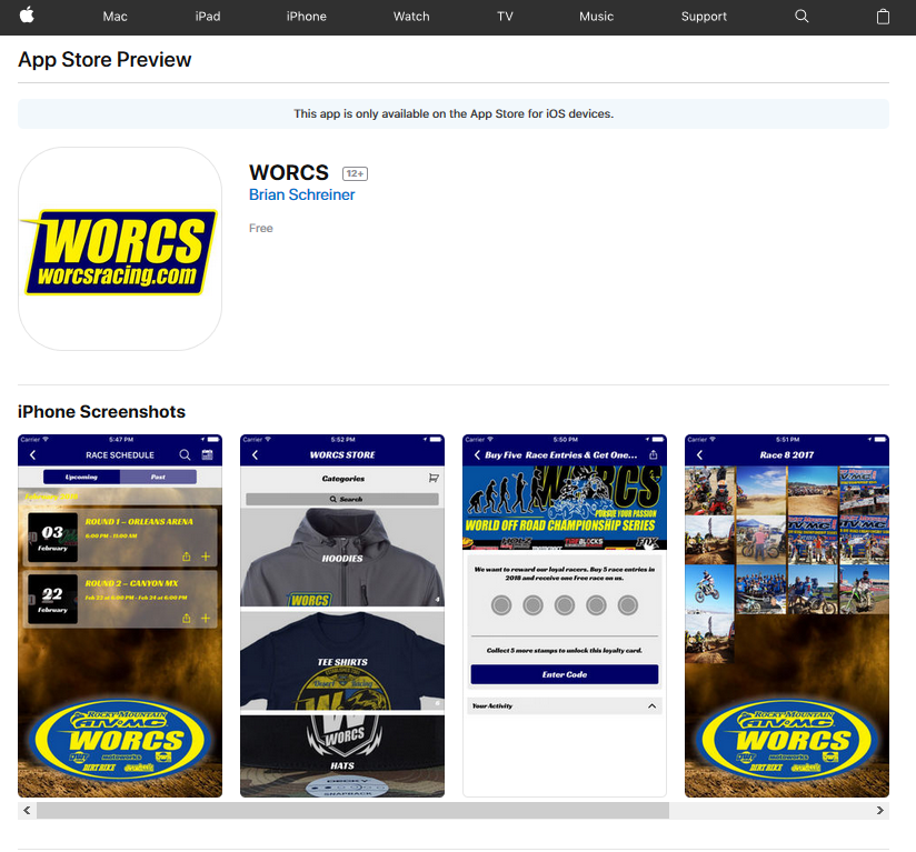 Introducing the WORCS Mobile App! Download right now and stay better connected on all things WORCS!