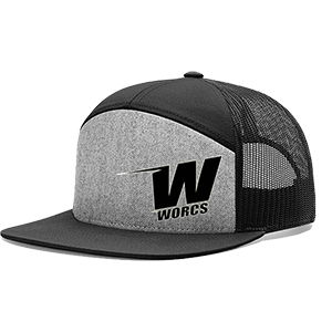 Hat WORCS 7 Panel Grey Black