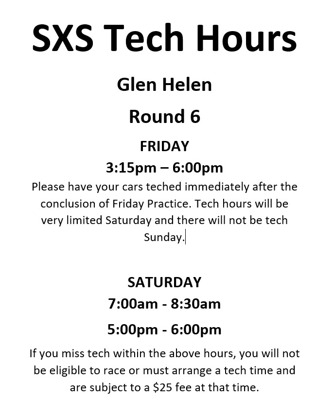 2019 Round 6 Glen Helen Tech Hours Web Image