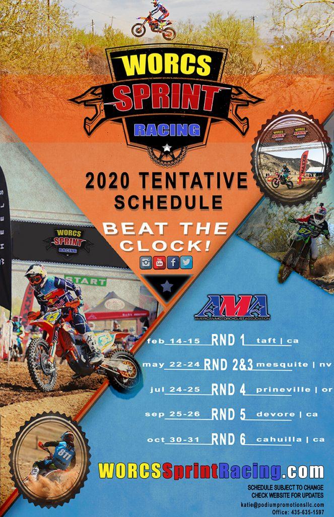 2020 WORCS Sprint Racing Tentative Schedule