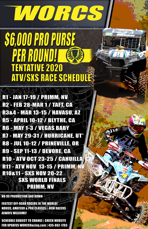 2020 WORCS ATV-SXS Tentative Schedule
