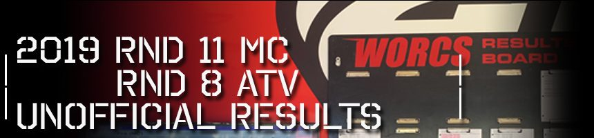 2019 Round 11 MC Round 8 ATV Unofficial Results Board