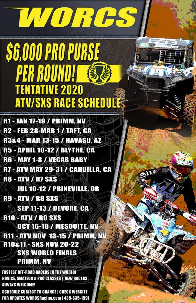 2020 WORCS ATV-SXS Schedule