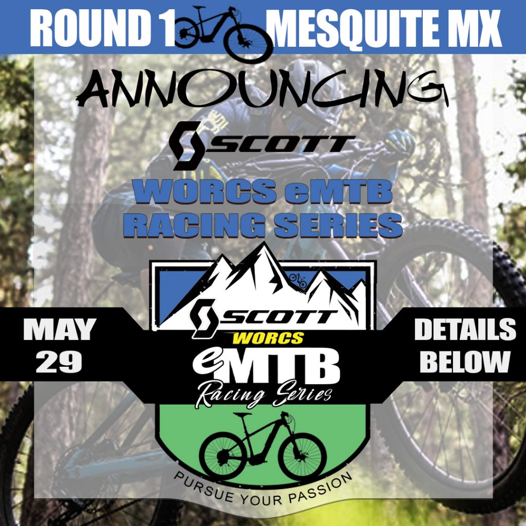We are excited to announce the Scott Sports WORCS eMTB Racing Series! @scottsports @scottsportsusa  Join us for this new action packed fun racing event sponsored by Scott Sports. Put those electric mountain bikes to the ultimate test and race!