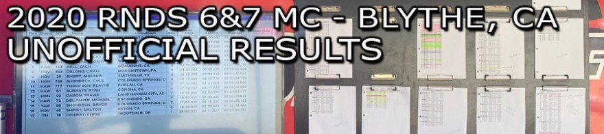 2020 Rounds 6 & 7 MC Blythe Unofficial Results Board