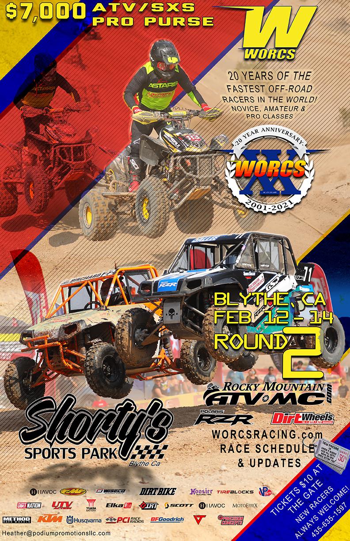 2021 Round 2 ATV SXS Blythe, CA - FLYER